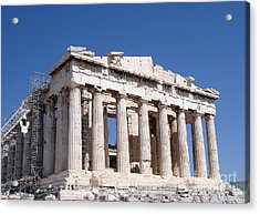 Parthenon Front Facade Acrylic Print by Jane Rix
