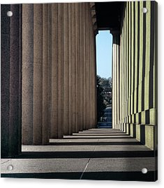 Parthenon Shadow Tunnel Acrylic Print