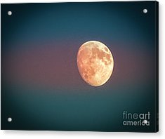 Partial Moon Acrylic Print by Claudia M Photography