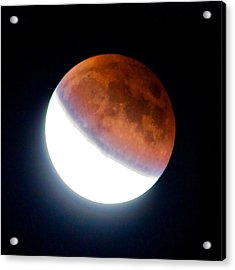 Acrylic Print featuring the photograph Partial Super Moon Lunar Eclipse by Todd Kreuter
