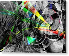 Particles Of Light Dancing Acrylic Print