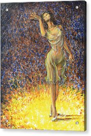 Parting Dancer Acrylic Print