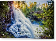 Partridge Falls In Late Afternoon Acrylic Print