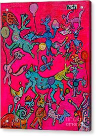 Party Animals Acrylic Print by Marlene Robbins