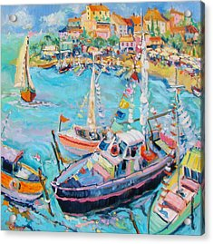 Party Boats Acrylic Print by Sharon Furner
