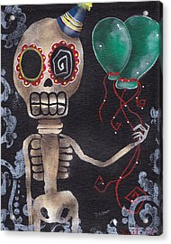 Party Killer Acrylic Print by  Abril Andrade Griffith
