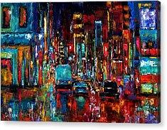 Party Of Lights Acrylic Print by Debra Hurd