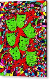 Party Of Seven Acrylic Print by Teddy Campagna