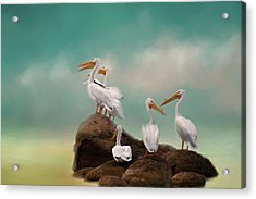 Party On The Rocks Acrylic Print by Lana Trussell