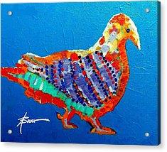Party Pigeon Acrylic Print