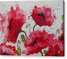 Party Poppies Acrylic Print