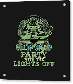 Acrylic Print featuring the mixed media Party With The Lights Off by TortureLord Art