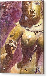 Parvati Acrylic Print by Ann Radley