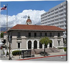 Pasadena's Plaza Station Post Office Acrylic Print by Matt MacMillan