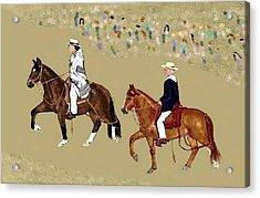 Pasos On Parade Acrylic Print by Carole Boyd