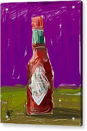 Pass The Hot Sauce Acrylic Print