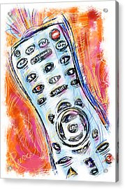 Pass The Remote Acrylic Print by Russell Pierce