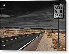 Acrylic Print featuring the photograph Pass With Care by Atom Crawford