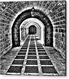 Passage, La Seu, Palma De Acrylic Print by John Edwards