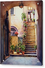 Passages Back In Time Acrylic Print by Sue Zimmermann