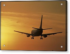 Passenger Plane Taking Off Lax Airport Acrylic Print