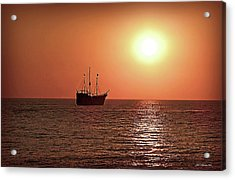 Acrylic Print featuring the photograph Passing By In Calm Waters by Joan  Minchak