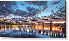 Passing Clouds Above Chattanooga Pano Acrylic Print