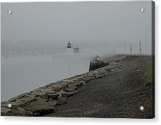 Acrylic Print featuring the photograph Passing In The Fog by Jeff Folger