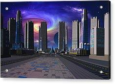 Passing Of The Dark Star Acrylic Print by David Jackson