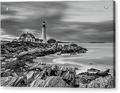 Passing Storm At Portland Head Light Acrylic Print