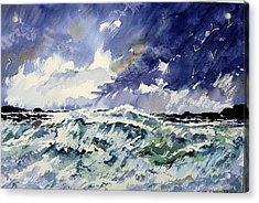 Passing Storm At The Blaskets  Acrylic Print