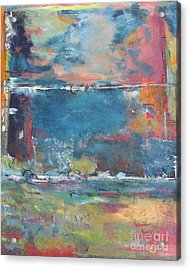 Passing Storm Acrylic Print by Chaline Ouellet