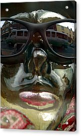 Passing Traffic Is The Highlight Of My Day Acrylic Print by Jez C Self