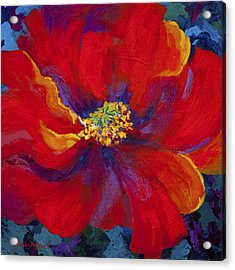 Passion - Red Poppy Acrylic Print by Marion Rose