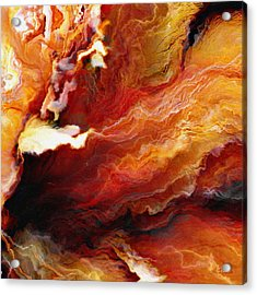 Passion - Abstract Art - Triptych 3 Of 3 Acrylic Print