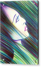 Acrylic Print featuring the drawing Passion Awakening by Danielle R T Haney