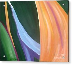 Passion Unfolding 1 Acrylic Print by Lori Jacobus-Crawford