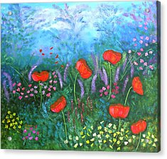 Passionate Poppies Acrylic Print by Alanna Hug-McAnnally