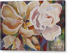 Past Full Bloom Acrylic Print by Linda Rupard