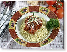 Pasta Dish With Meat Sauce Acrylic Print by Jack Dagley