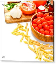 Pasta Please Acrylic Print by Olivier Le Queinec