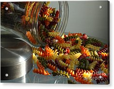 Pasta Spillage Acrylic Print by Robert Frederick