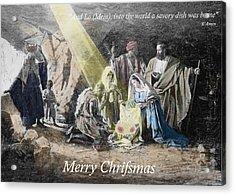 Pastafarian Merry Chrifsmas Scene Acrylic Print