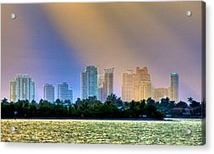Pastel City Acrylic Print by William Wetmore