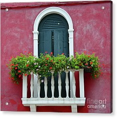 Pastel Colors Of Burano  Acrylic Print