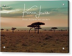 Acrylic Print featuring the photograph Pastel Dawn On The Mara by Karen Lewis