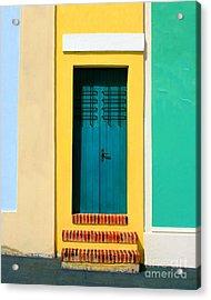 Pastel Doorway Acrylic Print by Perry Webster