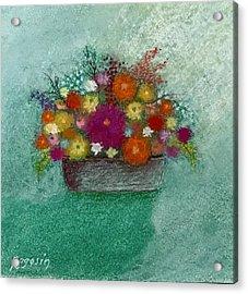 Pastel Flowers Acrylic Print by Harvey Rogosin