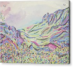 Pastel Landscape Acrylic Print by Suzanne  Marie Leclair