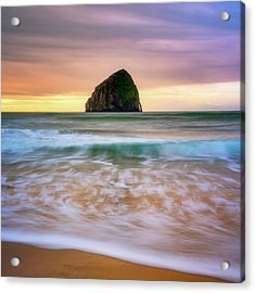 Acrylic Print featuring the photograph Pastel Morning At Kiwanda by Darren White